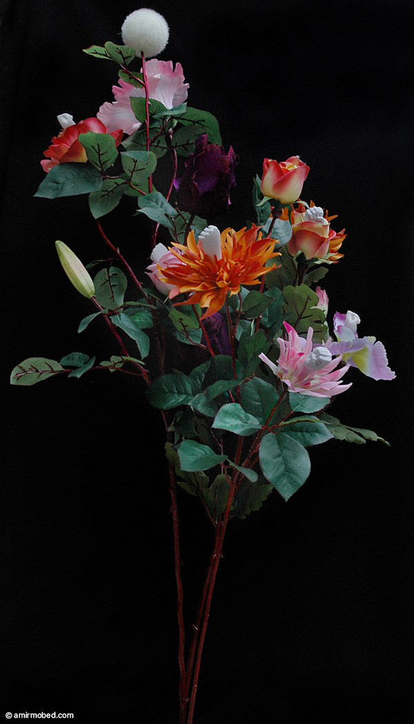The Flowers of my Homeland, 2010, Performance, Artificial flowers, Instant color, Resin