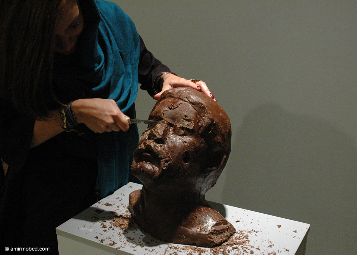 Burn Me if You Like, 2010,Installation, chocolate, ice
