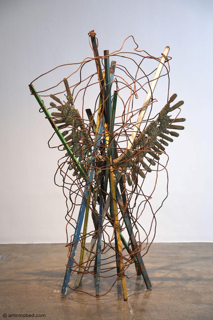 Created, 2019, Sculpture, Bronze, Scrap iron, Size: 165 × 95 cm